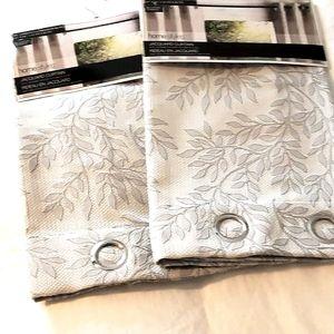 New Set of Jacquard Curtains Light Grey 37…